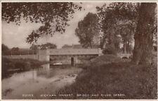 WICKHAM MARKET ( Suffolk) : Bridge and River Deben RP-HOWE