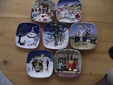 """""""Royal Doulton"""" Xmas Around The World - (7) - Complete Plate Set - 1972/1978"""