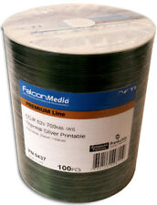 100-Pak FalconMedia Silver Thermal Hub Printable 52X 80-Min Premium Line CD-R's