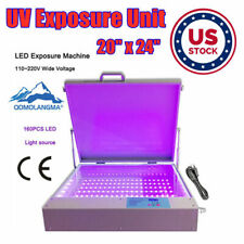 Us Stock Tabletop Precise 20 X 24 80w Led Uv Exposure Unit For Screen Printing