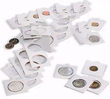 25 étuis carton blancs pour pièces de monnaie diamètre au choix 17,5 à 39,5 mm