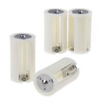 4Pcs 3X AA to D size battery adapter box converter holder switcher case box FTE