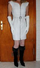 Damen Lederkleid Lamm Nappa Gr. L (40) weiß