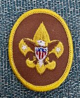 Vintage Boy Scout Badge Patch 1970's Tenderfoot Brown Badge-Patch