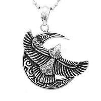 Fashion Men's Punk Stainless Steel Eagle Biker Pendant Necklace Chain Jewelry