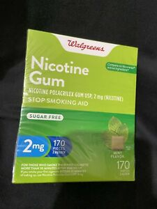 walgreens nicotine gum 2mg 170 Pieces Mint Flavor