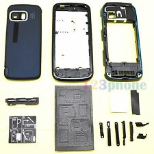 KEYPAD + BATTERY COVER + CHASSIS FULL HOUSING FOR NOKIA 5800 #H-433_BLUE