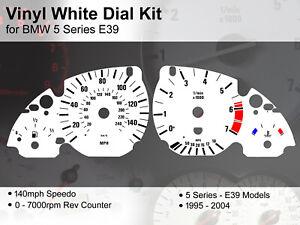 BMW 5 Series E39 (1995 - 2004) - 140mph / 7000rpm - Vinyl White Dial Kit