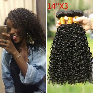 Brazilian Kinky Curly Hair 3 Bundles Brazilian Human Hair Weave Extensions weft