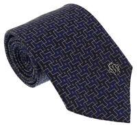 Roberto Cavalli ESZ045 04500 Navy Blue Geometric Tie