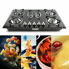 """30"""" 5 Burner Built-In Stove Top Gas Cooktop Lpg/Ng Gas Cooking Easy to Clean"""