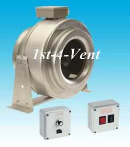 INLINE METAL 1 phase CENTRIFUGAL TUBE DUCT FAN INDUSTRIAL COMMERCIAL HYDROPONICS