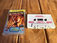 Retro Vintage ZX Sinclair Spectrum 48K 128K Game Barbarian The Ultimate Warrior
