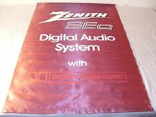 ZENITH RADIO & TV SEQ DIGITAL AUDIO STORE SATIN BANNER SIGN 1970s