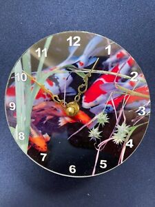 5 Inch KOI  DESK TOP Clock, Battery Operated Round with Stand #3