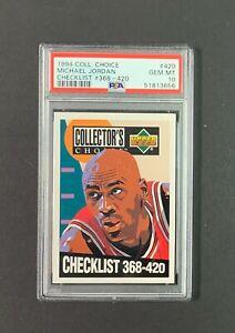 1994 Collector's Choice #420 Michael Jordan Checklist PSA 10 GEM MINT NEW SLAB