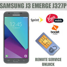 Remote Unlock Service SAMSUNG J3 Emerge J327P Sprint Boost mobile and virgin