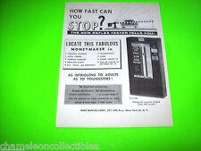 5-Cent 1950s ARE YOU A SAFE DRIVER? REFLEX TESTER ORIGINAL PROMO SALES FLYER