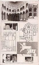 Antique print, Kirche zu Betlehem