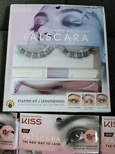 New listing Kiss Falscara Lashes Starter Kit Volumizing (1 kit) plus 3 boxes of wisps.