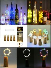 LED Bottle Fairy String Lights Battery Cork Shaped Christmas Wedding Party 10 1m
