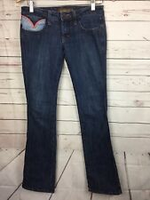 Frankie B Jeans Women's Size 24 Flare Hippie Pockets Low Rise Boho Bootcut 24x33