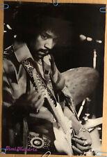Jimi Hendrix Original Vintage Poster Guitar Legend Music Memorabilia Pin Up