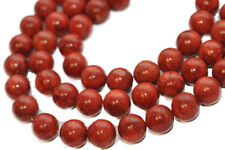 1 x Strang Rote Schaumkoralle Kugel 14mm Perlen unpoliert ohne Verschluß 1827-1E