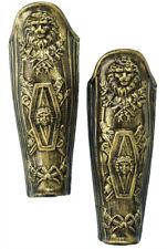 Leg Armour Plastic 2 Pieces Set Medieval Antiqued Gold Forum Novelties