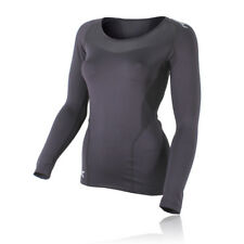 2XU Womens Base Layer Compression Black Long Sleeve Athlete Sports Running Top