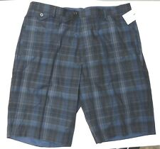 Calvin Klein  Size 30 Blue Plaid Flat Front  Shorts New Mens