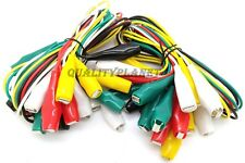 """Lot of 20 pc 34"""" ALLIGATOR CLIP TEST LEADS SETS HEAVY DUTY Length"""
