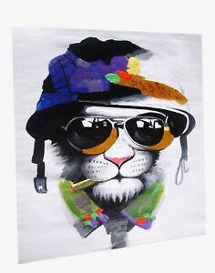 Art Canvas framed Print Urban Cat Army police mafia Painting  Home Decor