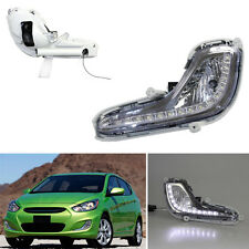 For Hyundai Accent 12-16 Auto White LED Lamp Beads Daytime Running Lights DRL 2*