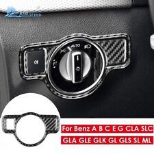 Mercedes A B C E G CLA GLA GLE GLK GL Carbon Fiber Headlight Switch Cover Trim