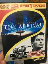 The Arrival (1996) / Shadow Conspiracy region 4 DVD (2x Charlie Sheen movies)