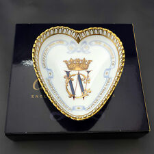 Royal crown derby Mariage Royal Cœur Plateau Kate & William – Qualité 1st Boxed