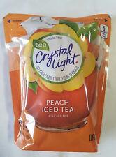 Crystal Light PEACH Iced Tea Drink mix - 2 quart Pitcher Packs - makes 32 qts