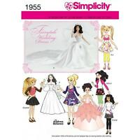 SIMPLICITY SEWING PATTERN DOLLS CLOTHES IN THREE SIZES 1955