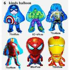 6 Super Heros Balloons Hulk Balloon Spiderman balloon Avengers Balloons 6 pcs