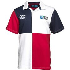 RUGBY WORLD CUP MENS HARLEQUIN SHORT SLEEVE RUGBY SHIRT SIZE L BNWT CANTERBURY