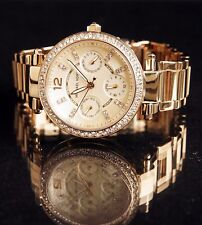 Original Michael Kors Watch Women's MK6056 Mini Parker Colour: Gold Crystal New
