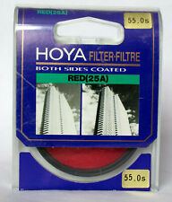 Hoya 55mm Red (25A) filter including case.