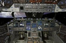 "Space Shuttle Cockpit Poster #01 24x36"""