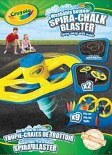 """Straßenmalkreide """"Spiro-Chalk Blaster"""" 2 x Spiralen-Kreisel & Stifte Crayola"""