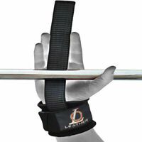 Power bar Wrist Straps with Closure Wrap Fitness  Weightlifting Bodybuilding Gym