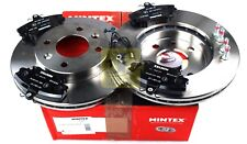 MINTEX FRONT AXLE BRAKE SET DISCS, PADS FOR RENAULT MDK0083 (REAL IMAGE OF PART)