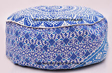 Indian Mandala Pouf Ottoman Pouffe Poof Round Pouf Foot Stool Ethnic Decorative
