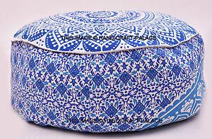 Indian Mandala Pouf Ottoman Pouffe Poof Round Pouf Foot Stool Ethnic Decorative