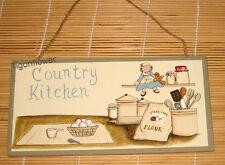 Wood Sign Plaque Decor Primitive Country Kitchen Egg Flour